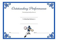 Outstanding Performance Template 6