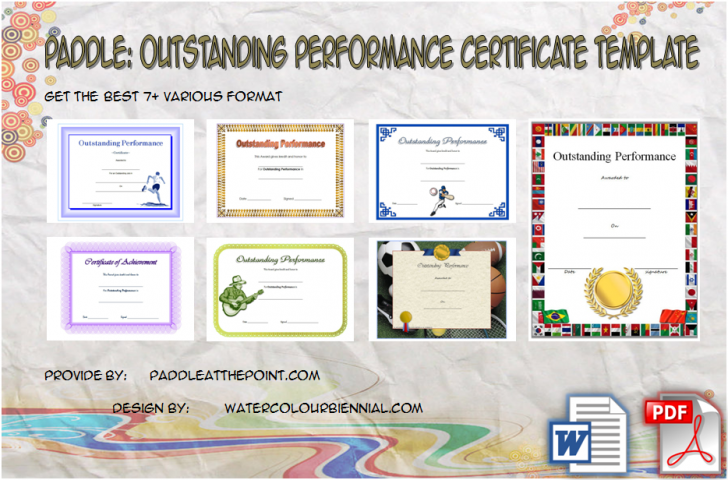 Permalink to Outstanding Performance Certificate Template