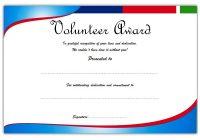 Outstanding Volunteer Certificate Template 1