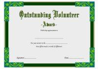 Outstanding Volunteer Certificate Template 2