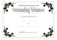 Outstanding Volunteer Certificate Template 3