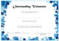 Outstanding Volunteer Certificate Template