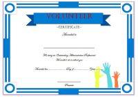 Outstanding Volunteer Certificate Template 4