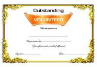 Outstanding Volunteer Certificate Template 7