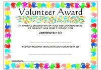 Outstanding Volunteer Certificate Template 8