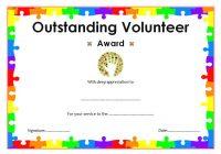Outstanding Volunteer Certificate Template 9