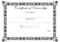 Ownership Certificate Template 3