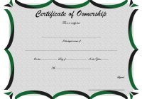 Ownership Certificate Template 5