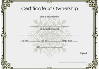 Ownership Certificate Template 7