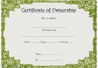 Ownership Certificate Template 9