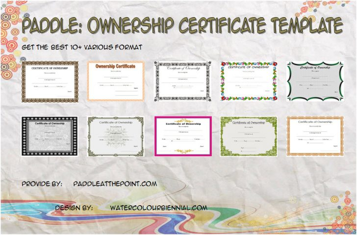 Permalink to Ownership Certificate Templates – 10+ FREE Exclusive Designs