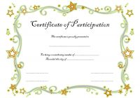 Participation Certificate Template 2