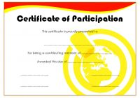 Participation Certificate Template 3