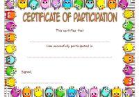 Participation Certificate Template 4