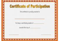 Participation Certificate Template 6