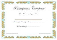 Participation Certificate Template 7