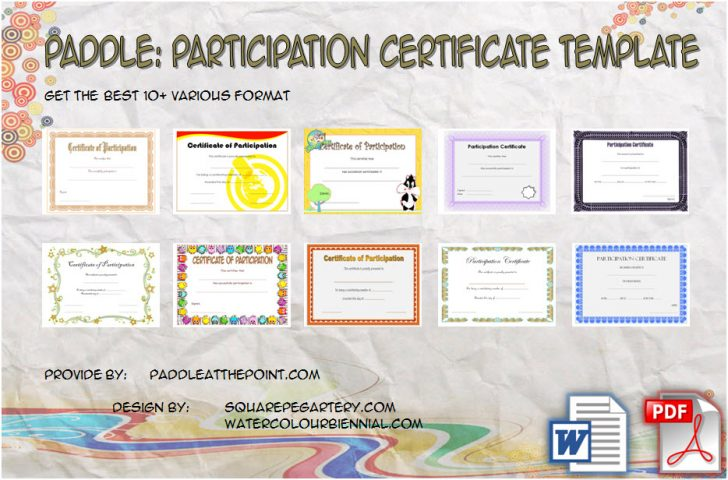Permalink to Participation Certificate Templates Free Printable: 10 Ideas