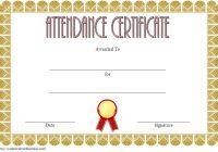 Perfect Attendance Certificate Template 1