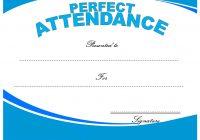 Perfect Attendance Certificate Template 5