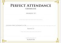 Perfect Attendance Certificate Template 6