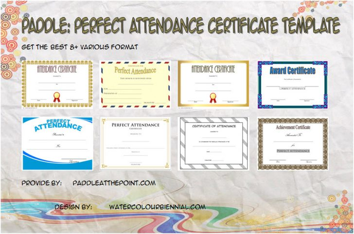 Permalink to 8+ Perfect Attendance Certificate Template Editable Ideas