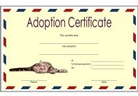 Pet Adoption Certificate Template 4