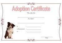 Pet Adoption Certificate Template 5