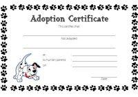 Pet Adoption Certificate Template 6