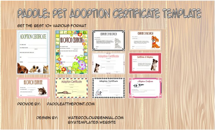 Permalink to Pet Adoption Certificate Template