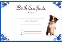 Pet Birth Certificate Template 2