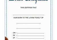 Pet Birth Certificate Template 3