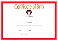 Pet Birth Certificate Template 6