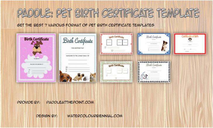Permalink to Pet Birth Certificate Template FREE (7+ Editable Designs)