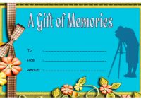 Photography Gift Certificate Template 2