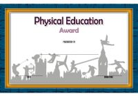 Physical Education Certificate Template 3
