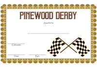 Pinewood Derby Certificate Template 1