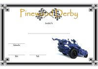 Pinewood Derby Certificate Template 2