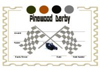 Pinewood Derby Certificate Template 4