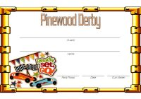 Pinewood Derby Certificate Template 6