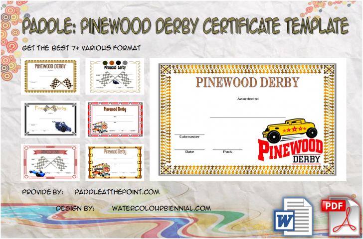 Permalink to Pinewood Derby Certificate Template – 7+ Greatest Designs