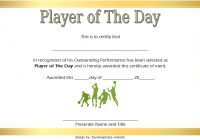 Player of The Day Certificate Template 1