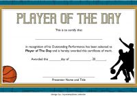 Player of The Day Certificate Template 4