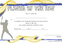 Player of The Day Certificate Template 5