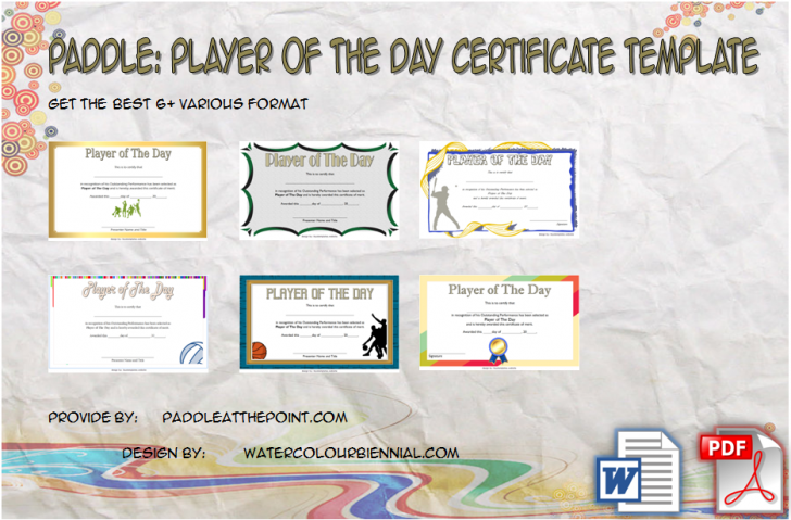 Permalink to Player of The Day Certificate Template: 6+ Cool Designs FREE