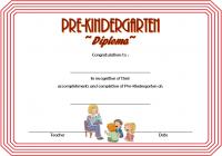Pre-Kindergarten Diploma Certificate 5