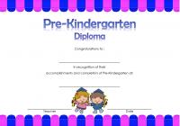 Pre-Kindergarten Diploma Certificate 6