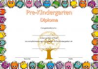Pre-Kindergarten Diploma Certificate 7