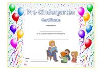Pre-Kindergarten Diploma Certificate 8