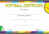 Printable Softball Certificate 2