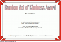 Random Act of Kindness Certificate Template 1